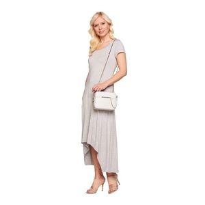 H by Halston Maxi Hi Lo T-shirt Dress Gray 1x